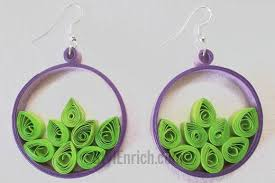 earrings paper hip hoop quilled paper earrings allfreepapercrafts