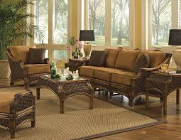 Living Room Wicker Furniture Mauna Loa Sunroom Set And Individual Pieces Spice Island By