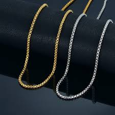 vintage necklace chains images 3mm gold chain small necklace 18 quot 22 quot 24 quot mens womens necklaces jpg