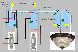 3 way switch installation circuit style 3