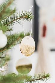 diy gold dipped wooden tree decorations fall for diy