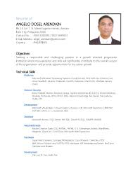Best Vmware Resume by Resume Of Angelo Dosel Arendain