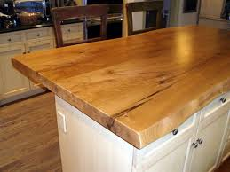 Wood Island Kitchen by Live Edge Wood Countertops Brooks Custom
