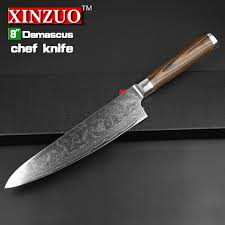 japanese steel kitchen knives xinzuo 8 inches chef knife damascus kitchen knives high quality