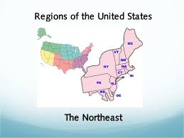 northeast united states map with states and capitals regions of the united states the northeast
