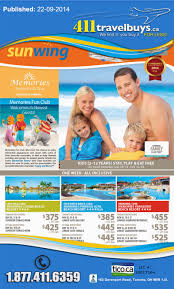 sunwing vacations 411 travel buys blowout sale 411travelbuys ca