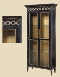 Curio Cabinet Accent Lighting Dark Cherry Finished Curio Cabinet With 3 Adjustable Glass Shelves