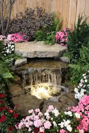 creative water gardens waterfall and pond for a very small garden