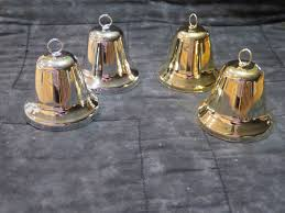 metal craft bells with clappers they ring 60mm silver or gold