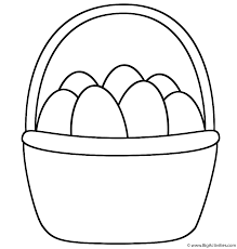 easter basket with eggs coloring page easter