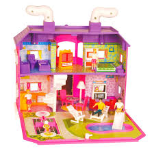 Barbie Dream House Floor Plan House Design Girls With Brown Study Table Pink Cabinet Plus White