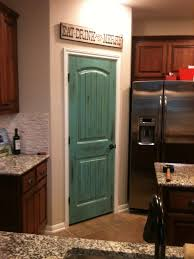 turquoise distressed pantry door my personal creations