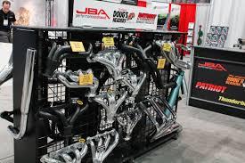 nissan titan jba header install sema 2014 jba provides carb certified power long tube headers