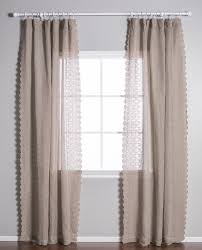 Sheer Pinch Pleat Curtains Pom Pom At Home Annabelle Solid Sheer Pinch Pleat Single Curtain