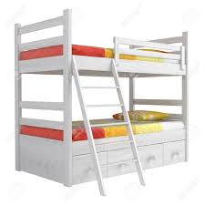 Bunk Beds With Storage Drawers by Double Bunk Bed With Storage Drawers And A Ladder Painted White