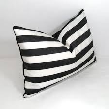 patio cushions and pillows black u0026 white striped pillow cover modern outdoor pillow cover