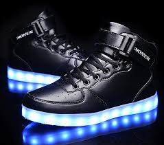 high top light up shoes amazon com mohem shinynight high top led shoes light up usb