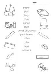 bunch ideas of classroom objects worksheets pdf in sample proposal