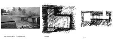 therme vals floor plan valine thermal baths peter zumthor sketches