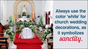 simple church wedding decoration ideas