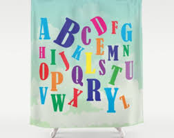 Kids Bathroom Shower Curtain Kids Shower Curtain Etsy