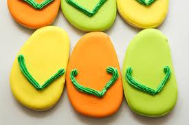 flip flop sugar cookies rebecca cakes u0026 bakes