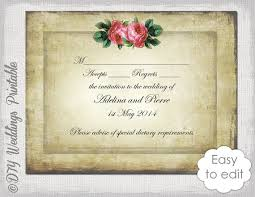 free wedding rsvp template wedding rsvp template diy vintage