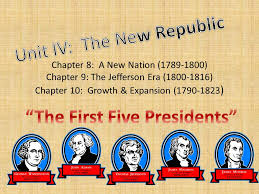 first five presidents the first five presidents ppt download