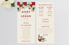 custom wedding programs custom wedding program christmas by remembernovemberinc