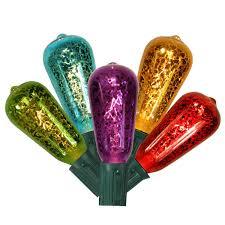 c9 led christmas lights set of 10 multi color mercury glass st40 edison style
