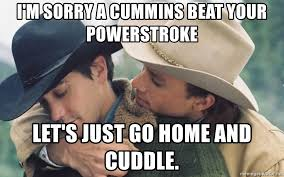 Cummins Meme - i m sorry a cummins beat your powerstroke let s just go home and