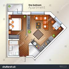 vector top view color architectural floor stock vector 659324530