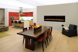 amazing electric fireplace in dining room ideas best inspiration