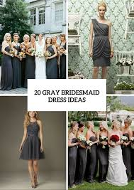 20 gorgeous gray bridesmaid dress ideas for fall weddings