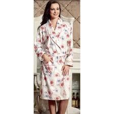 robe de chambre femme coton robe de chambre 100 coton femme blanche avec motif floral