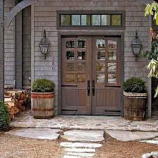 Barn Style Hinges Farmhouse Front Doors Farmhouse Front Front Stoop And Strap Hinges