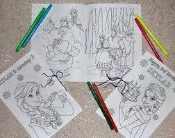frozen coloring book etsy