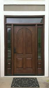 Stain For Fiberglass Exterior Doors Cambered Two Panel Plank Rustic Fiberglass Door With Wrought Iron