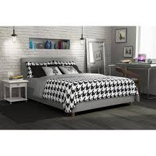 Gray Platform Bed Dhp Rose Upholstered Platform Bed Hayneedle