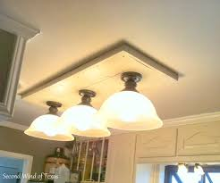Kitchen Fluorescent Light Fixture Kitchens Second Wind Of Texas Making Lights To Ideas Also Replace
