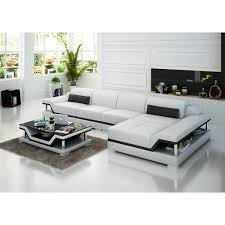 canapé d angle en cuir design salon cuir noir design nesta canap cuir avec mridienne with