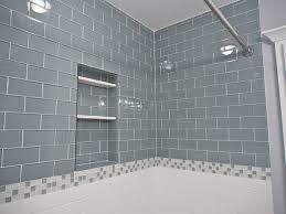 glass subway tile bathroom ideas extraordinary glass subway tile bathroom eclectic 18185 home