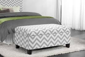 White Storage Ottoman Dorel Living Dorel Living Chevron Storage Ottoman Gray White
