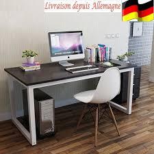 meuble pour ordinateur de bureau table pour ordinateur bureau meuble pc table de travail noir achat