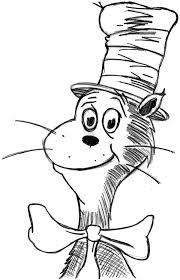 awing seuss cat hat coloring color luna 13180
