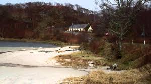 white or silver sand beach of morar scotland uk youtube