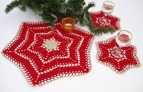lace crochet christmas table decoration lace crochet doilies