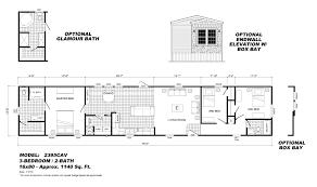 Oak Creek Homes Floor Plans by 3 Bedroom 2 Bath Mobile Home Floor Plans House Drawings 5