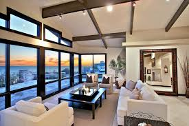 Lighting For Living Room With High Ceiling Contemporary Living Room With Track Lighting High Ceiling In