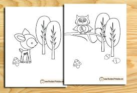 Coloring Pages For Free Coloring Pages Free Rectangled Me Woodland Animals Coloring Pages